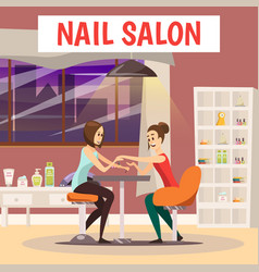 Nail salon background vector