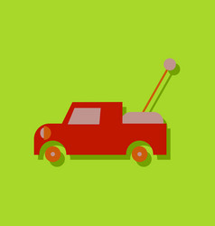 Flat icon design kids truck in sticker style vector