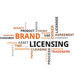 Word cloud brand licensing vector