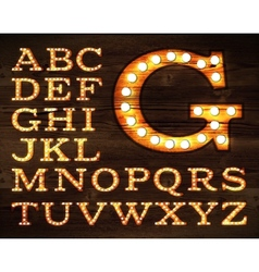 Lamp alphabet old style vector