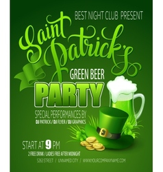 St Patricks Day poster vector image