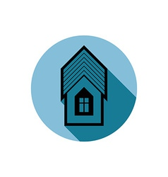 Simple house detailed property developer vector
