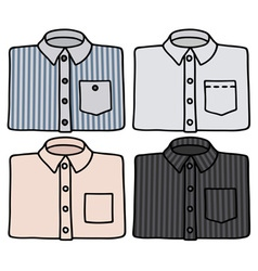 Classic shirts vector