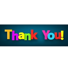 Paper thank you sign vector