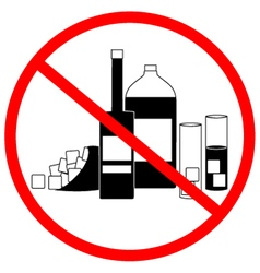 No alcohol zone vector