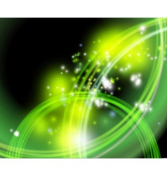 Green flaring background vector