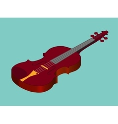 Isometric classical acoustic violin icon vector