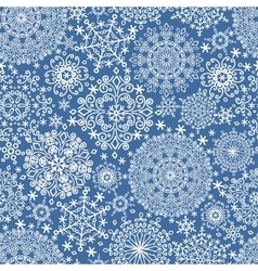 Snowflakes seamless patternwinter lace vector