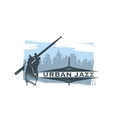 Urban jazz art concept vector
