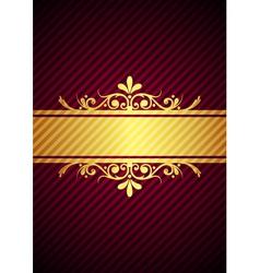 gold bourdeaux background vector image
