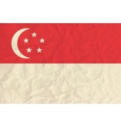 Singapore paper flag vector