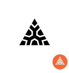 Triangle ancient tribal style logo monumental vector