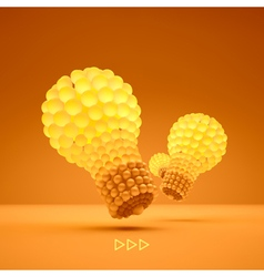 Lightbulb idea concept 3d vector
