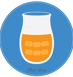 Isolated beer vector