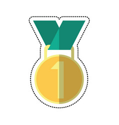 cartoon medal award winner sport vector image
