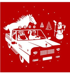 Christmas pickup vector