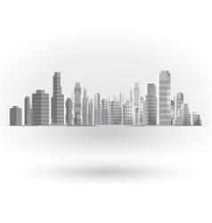 City landscape background vector