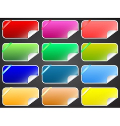 Colorful labels collection vector image vector image