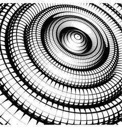 concentric tubes shaded with grid pattern vector image vector image