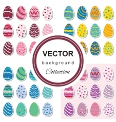 Easter egg background set vector image vector image