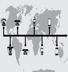 Evolution progress phones vector