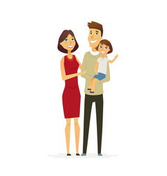 Family - colored modern flat vector