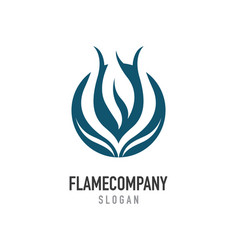 fire flame logo template icon oil gas and energy vector image vector image
