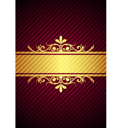 gold bourdeaux background vector image vector image
