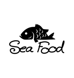 graphic sea food vector image vector image