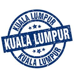 Kuala lumpur blue round grunge stamp vector