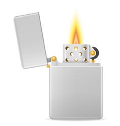 metal gasoline lighter vector image vector image