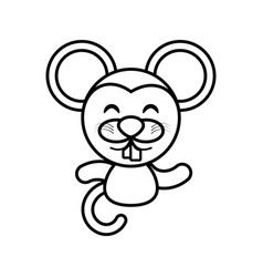 mouse animal toy outline vector image