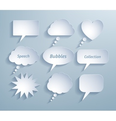 Paper bubble talks vector image