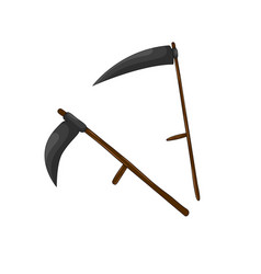 scythe for grass set isolated on white background vector image vector image