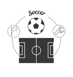 Set concept icon soccer sport vector