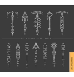 Set of cute geometric trendy hipster arrows vector