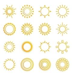 Set of vintage sunburst vector image vector image