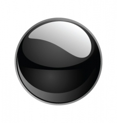 shiny sphere 02 black vector image