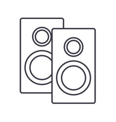 speakers line icon sign on vector image