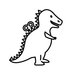 T-rex dinosaur toy icon vector