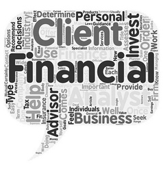 The importance of a financial advisor text vector