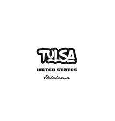 United states tulsa oklahoma city graffitti font vector