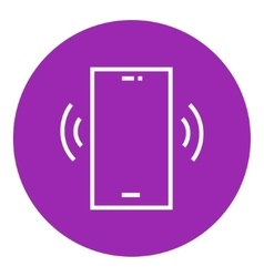 Vibrating phone line icon vector
