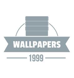 wallpaper logo gray monochrome style vector image