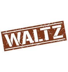 Waltz square grunge stamp vector