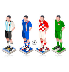 World cup soccer group vector