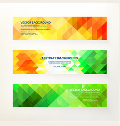 Banners in triangle style vector image