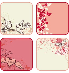 Valentines day cards vector image