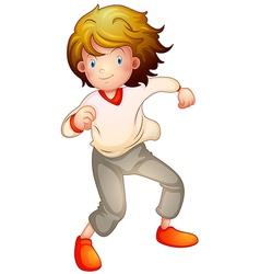 Cartoon boy dancing vector image