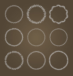 set wreaths vector image